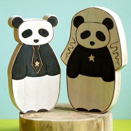 Panda cake topper mariage la fiancee du panda