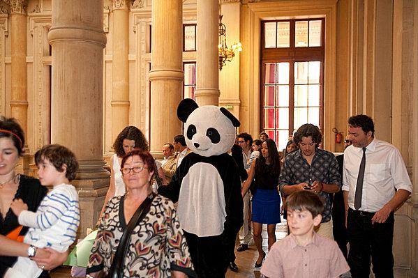 Le mariage civil des pandas nos tenues la fianc e for Robes de mariage de la ville de kansas