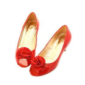 chaussures rouges femme petit talon. Black Bedroom Furniture Sets. Home Design Ideas