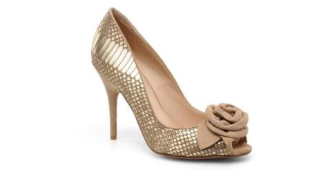 Chaussures de mariee dorees Dune fiancee du panda