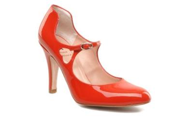Chaussures de mariee rouges retro Starlet fiancee du panda