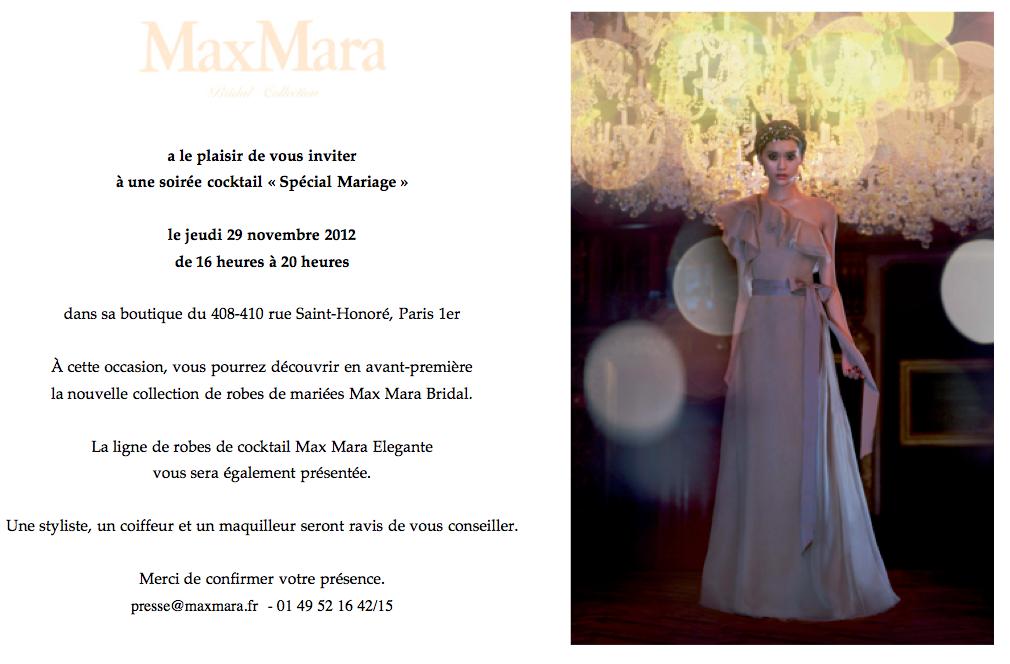 robes de mariee max mara bridal 2013 invitation la fiancee du Panda