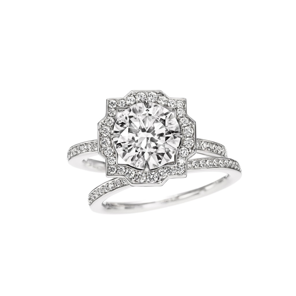 Bague de fiancailles et alliance Belle Harry Winston ...
