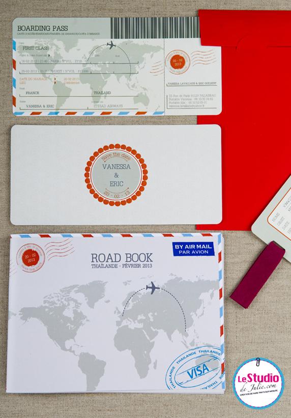 faire-part voyage boarding pass - Le Studio de Julie - LaFianceeduPanda.com 2