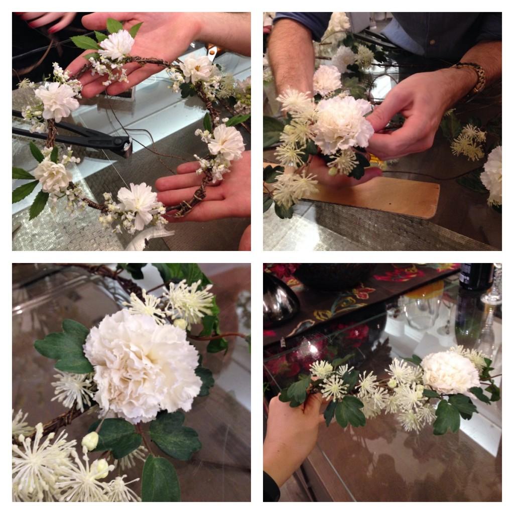 Do it easy une couronne de fleurs et un bouquet de mari e made by sia la fianc e du panda - Comment faire une couronne de fleurs ...