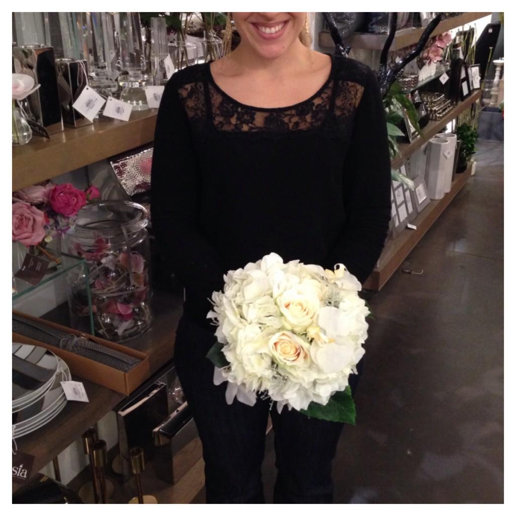 Do it easy une couronne de fleurs et un bouquet de mari e for Bouquet de fleurs 10