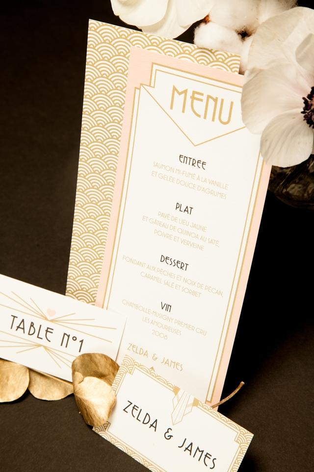 faire-part Art deco Mister M Studio Collection xFDP menu - Loove photography - LaFianceeduPanda.com 7