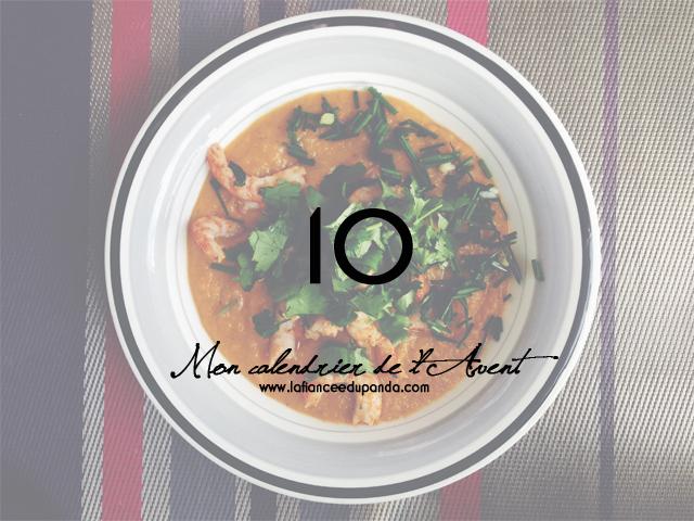 Recette soupe patate douce crevettes - LaFianceeduPanda.com