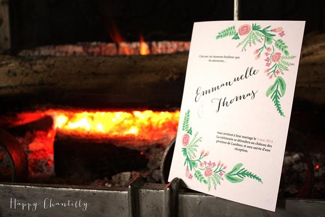 Faire-part aquarelle fleurs Happy Chantilly Studio - LaFianceeduPanda.com