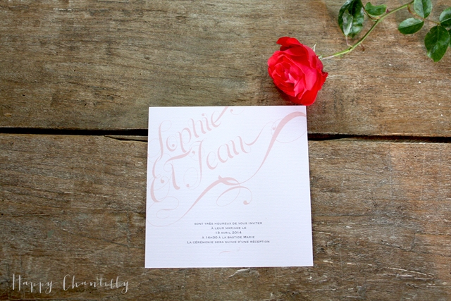 Faire-part romantique Happy Chantilly Studio - LaFianceeduPanda.com