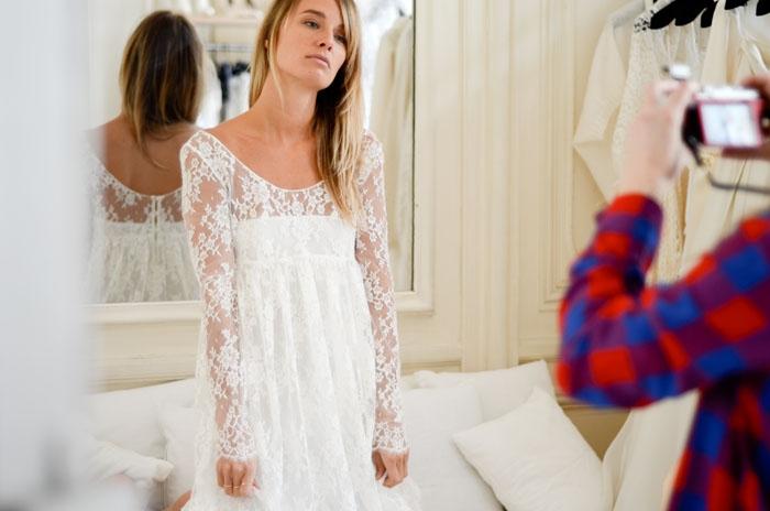... Kinney: Delphine Manivet invente la robe de mariée en série limitée