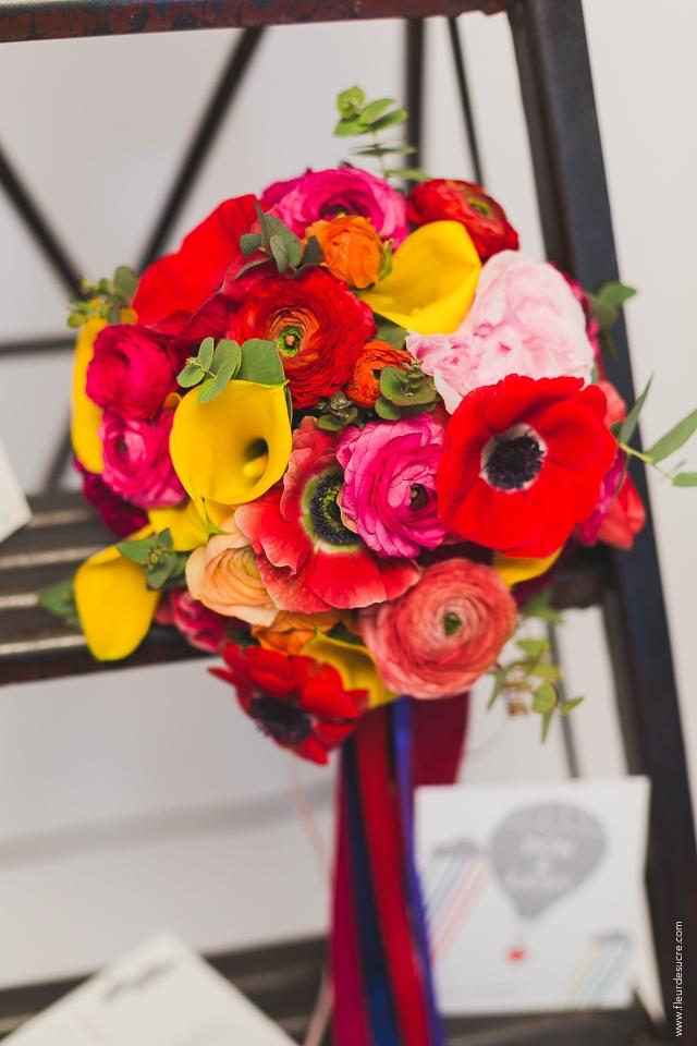 Bouquet de mariee colore La Promise x My Moon - Fleur de Sucre Photographie - LaFianceeduPanda.com-055