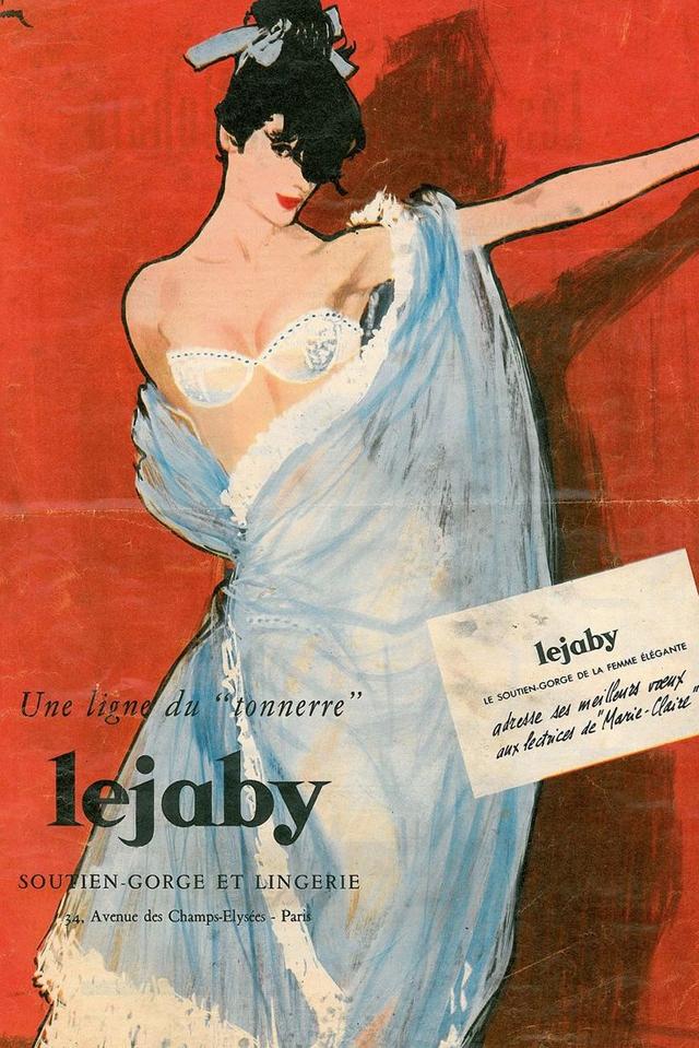 Maison Lejaby affiche publicitaire Gruau lingerie - La Fiancee du Panda blog Mariage et Lifestyle