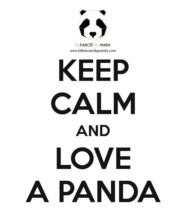 Panda free poster Keep calm and love a Panda - La Fiancee du Panda Blog Mariage et Lifestyle
