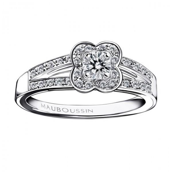 Bague Chance of Love, diamant central et diamants, Mauboussin, 1 450 ...