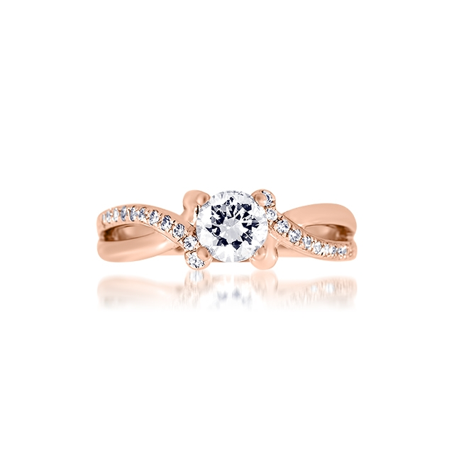 Bague-de-fiancailles-Zeina-or-rose-solitaire-diamant-modele-India-La ...
