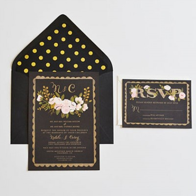 Invitations-mariage-noir-dore-firstsnowfall-Etsy-La-Fiancee-du-Panda-blog-Mariage-et-Lifestyle