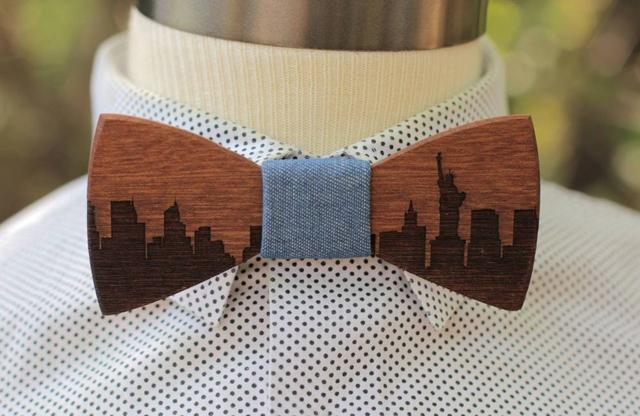 Accessoire mariage le noeud papillon en bois wooden bowties for Papillon new york