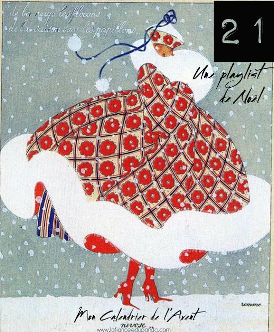 Carte Noel vintage Art Deco - calendrier de l'Avent blogueuse - La Fiancee du Panda blog mariage