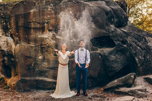 Mariage dans la foret shooting inspiration La Cerf des Confidences - photo Fabien les Bons Moments  - La Fiancee du Panda blog mariage-152