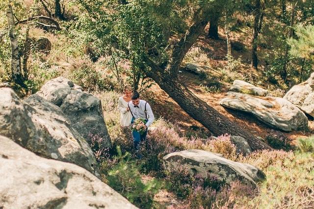 Mariage dans la foret shooting inspiration La Cerf des Confidences - photo Fabien les Bons Moments  - La Fiancee du Panda blog mariage-19