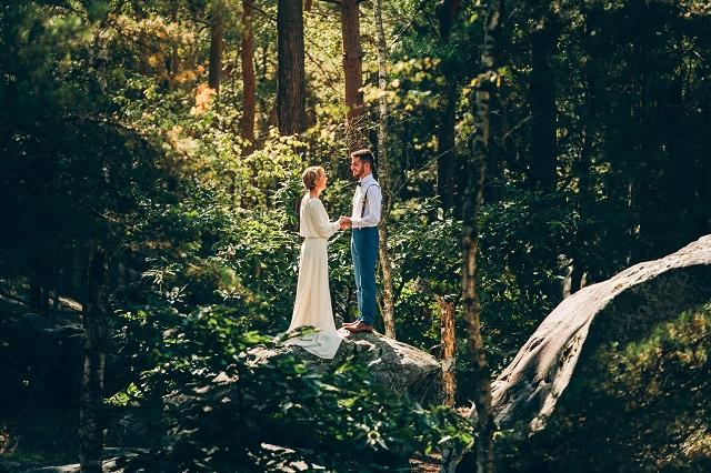 Mariage dans la foret shooting inspiration La Cerf des Confidences - photo Fabien les Bons Moments  - La Fiancee du Panda blog mariage-62