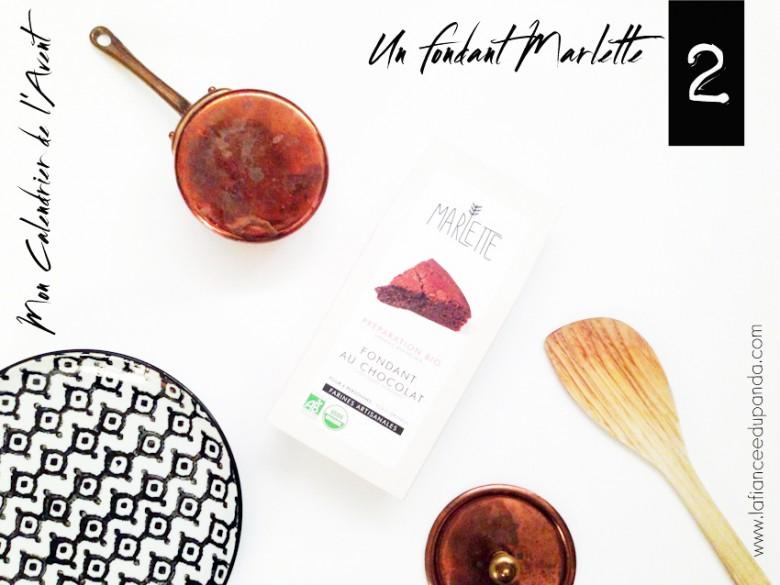 Marlette fondant au chocolat Calendrier de l'Avent blogueuse - La Fiancee du Panda blog mariage -