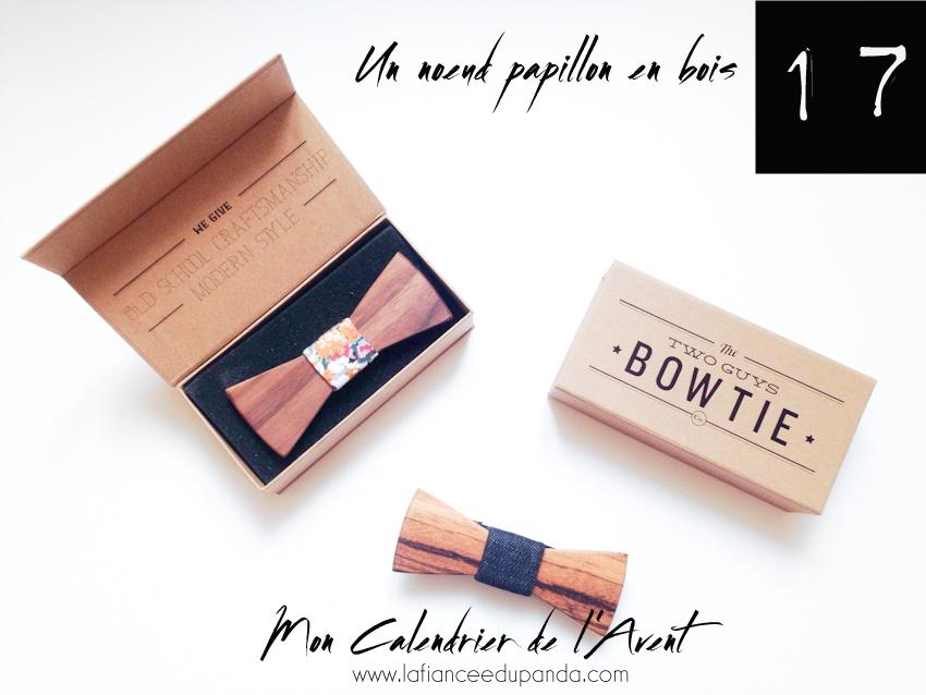Noeud papillons en bois Two guys Bow ties - calendrier de l'Avent blogueuse - La Fiancee du Panda blog mariage