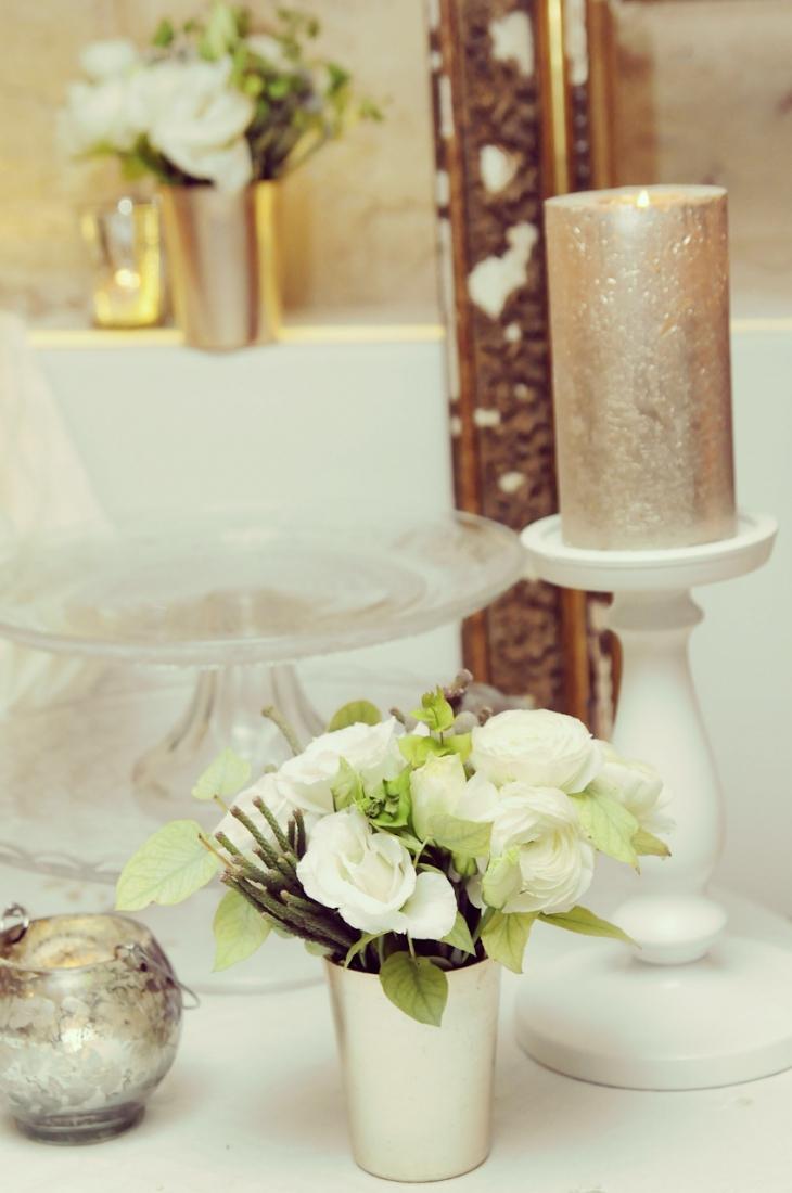 shooting inspiration deco mariage hiver dore et blanc la. Black Bedroom Furniture Sets. Home Design Ideas