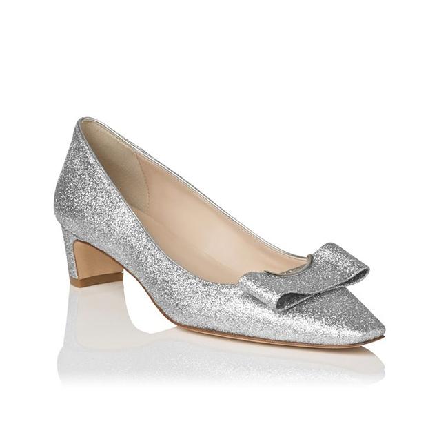 wedding shoes dfi des chaussures argentes et blanches pour la marie - Tara Jarmon Mariage