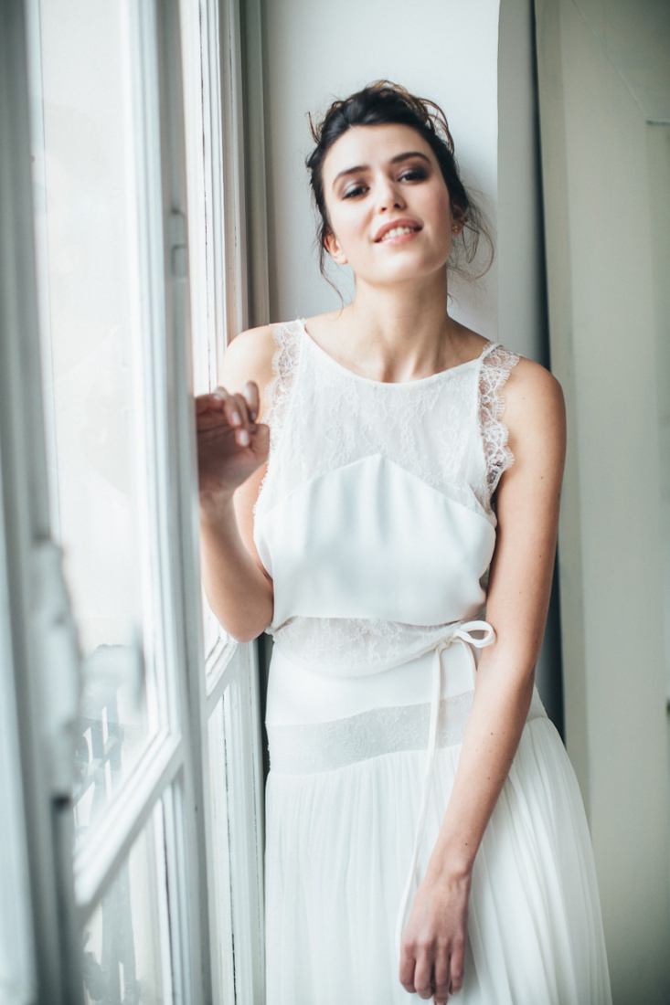 Sophie Sarfati robe de mariee creatrice a Paris - Stylisme La Fiancee du Panda - photos Yann Audic  -shooting ambiance blog mariage-9350