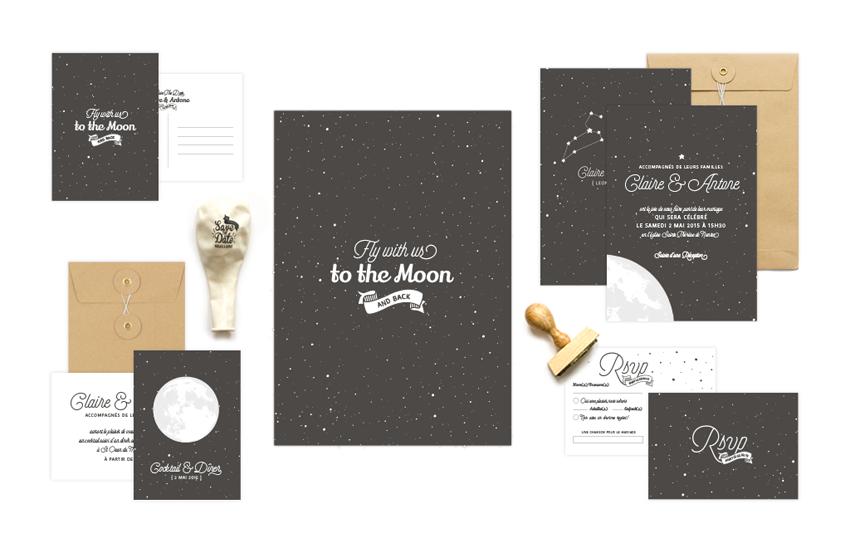 Faire-part mariage astronomie etoiles x Monkey Choo l La Fiancee du Panda blog mariage
