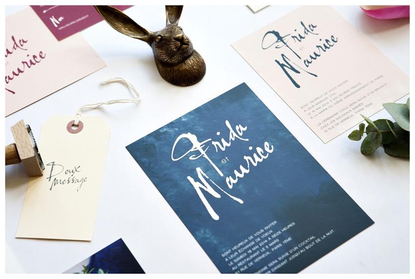 Faire part mariage graphique Mister M Studio - La Fiancee du Panda blog mariage