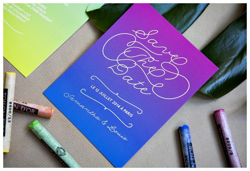 Faire part mariage neon Mister M Studio - La Fiancee du Panda blog mariage