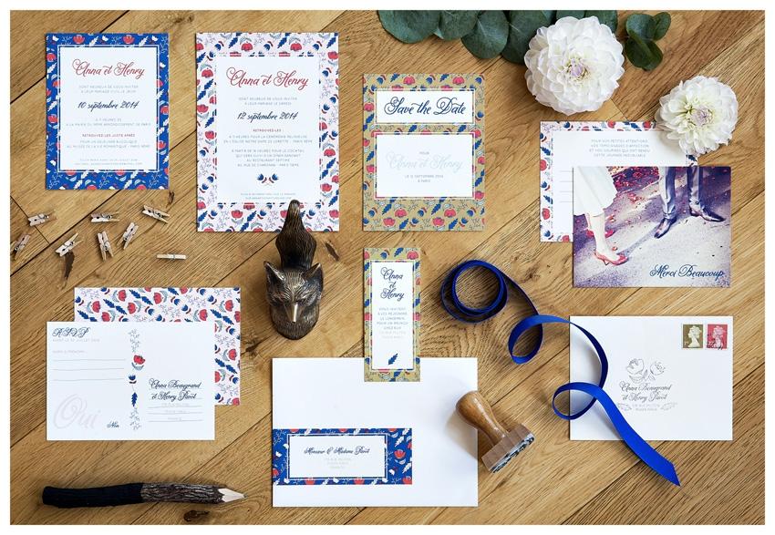 Faire part mariage romantique Mister M Studio - La Fiancee du Panda blog mariage