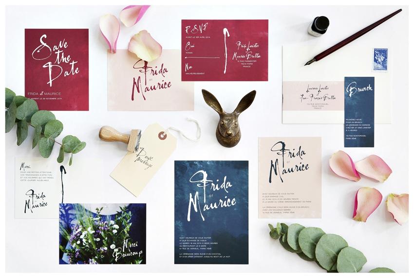 Faire part mariage typo Mister M Studio - La Fiancee du Panda blog mariage