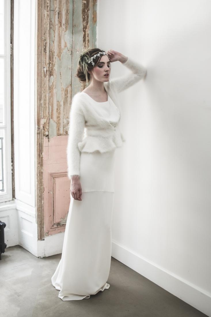Inspiration deco mariage en blanc l Photos La Femme Gribouillage - fleurs Lily Paloma l La Fiancée du Panda blog mariage--16