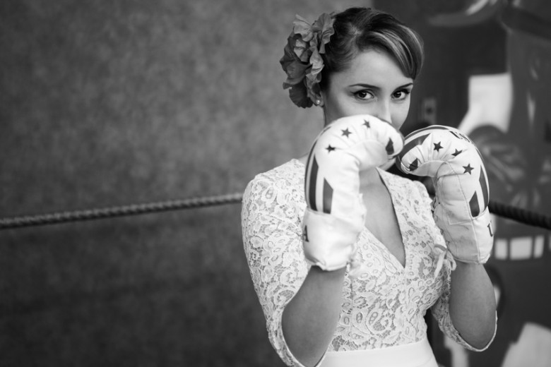 Robe de mariee laure b gady inspiration mariage annees 30 for Service de boxe de mariage