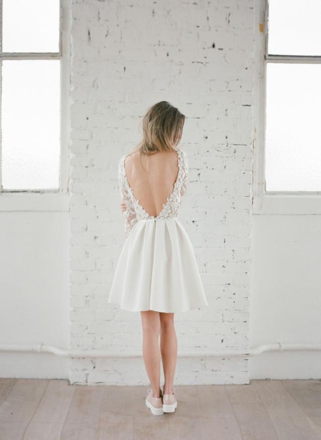 20 robes de mariée courtes de créateur {mariage civil}