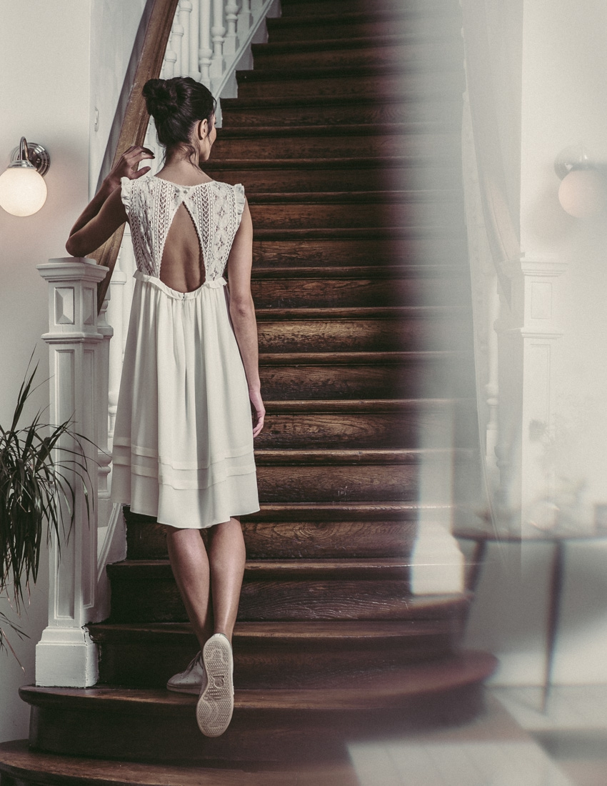Prix robe mariage civil laure de sagazan la mode des for Katie peut prix de robe de mariage