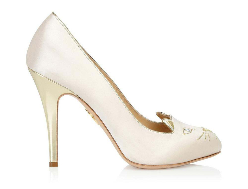 Chaussures mariee blanches l Charlotte Olympia chaussures chat l La Fiancee du Panda blog mariage