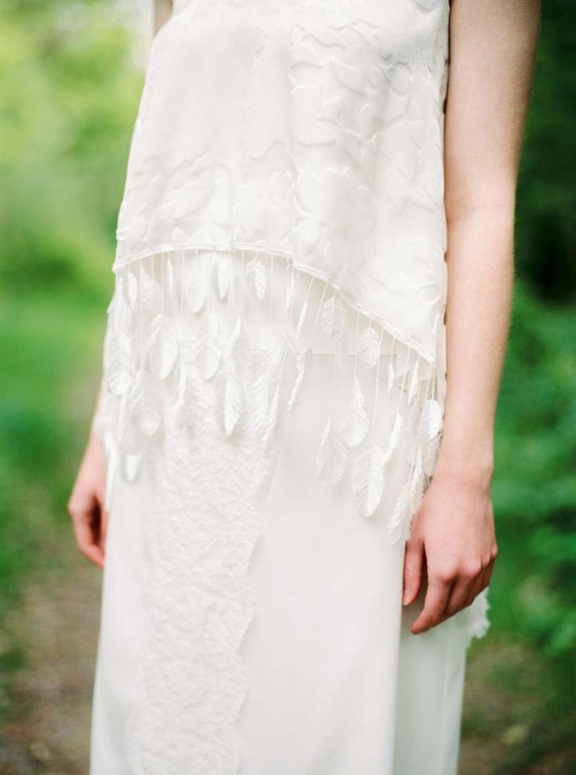 Robe de mariee plumes Stephanie Wolff Paris Top Apache Jupe Morrisson collection 2016 l La Fiancee du Panda blog mariage