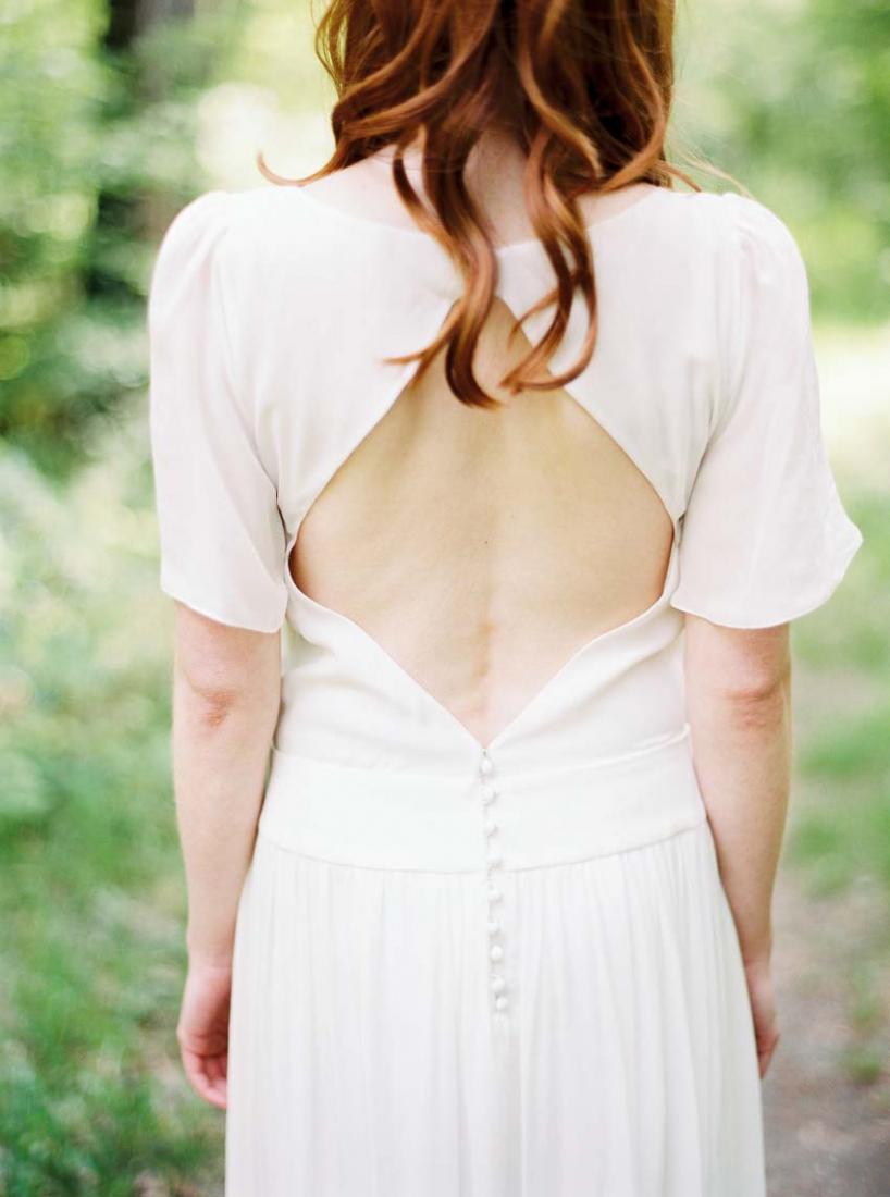 Robe de mariee vintage dos nu Stephanie Wolff Paris Jimmy collection 2016 l La Fiancee du Panda blog mariage