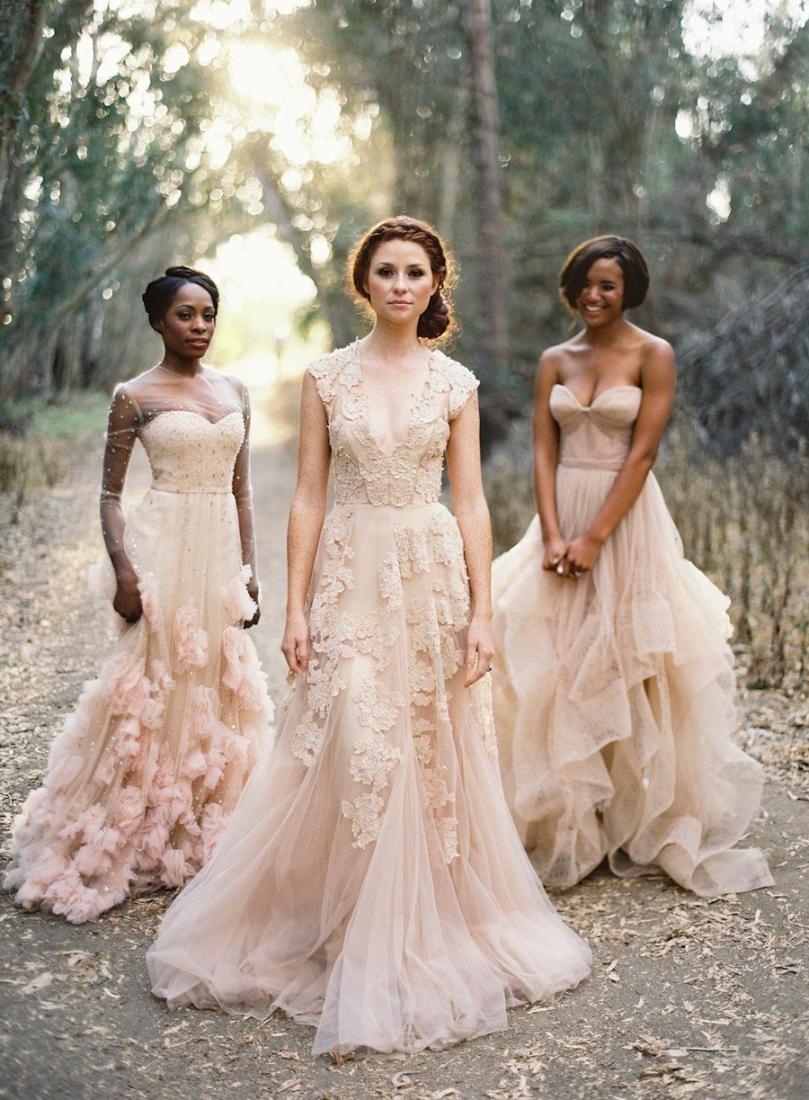 tendance mariage la robe de marie nude - Robe Rose Poudre Mariage