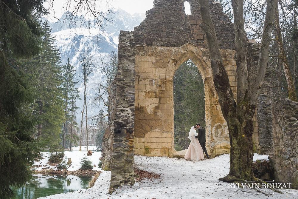 Mariage a Chamonix montagne hiver l Photographe Sylvain Bouzat l La Fiancee du Panda blog mariage--20