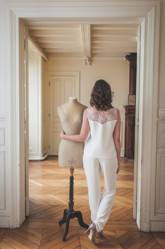 Mathilde Marie Smoking mariage femme sur mesure Paris l La Fiancee du Panda blog mariage-