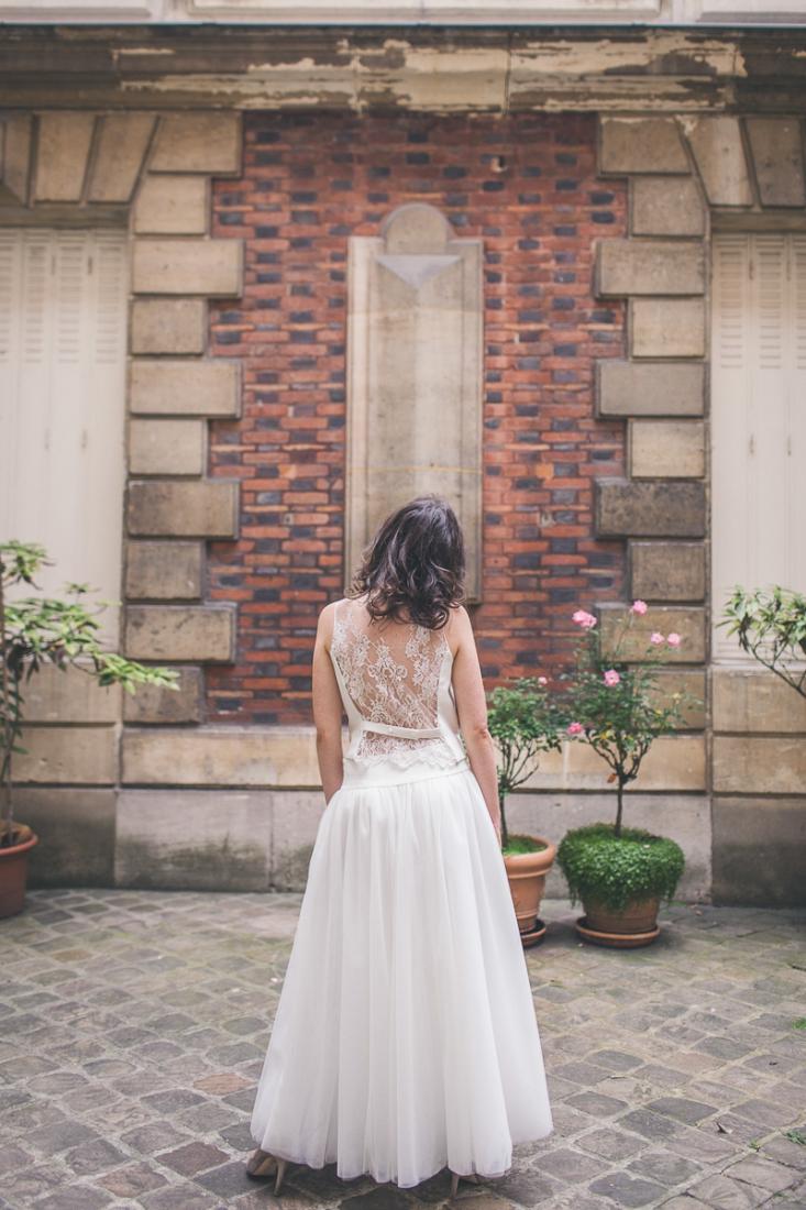 Mathilde Marie robe de mariee dentelle et crepe de soie collection 2016 l La Fiancee du Panda blog mariage--5