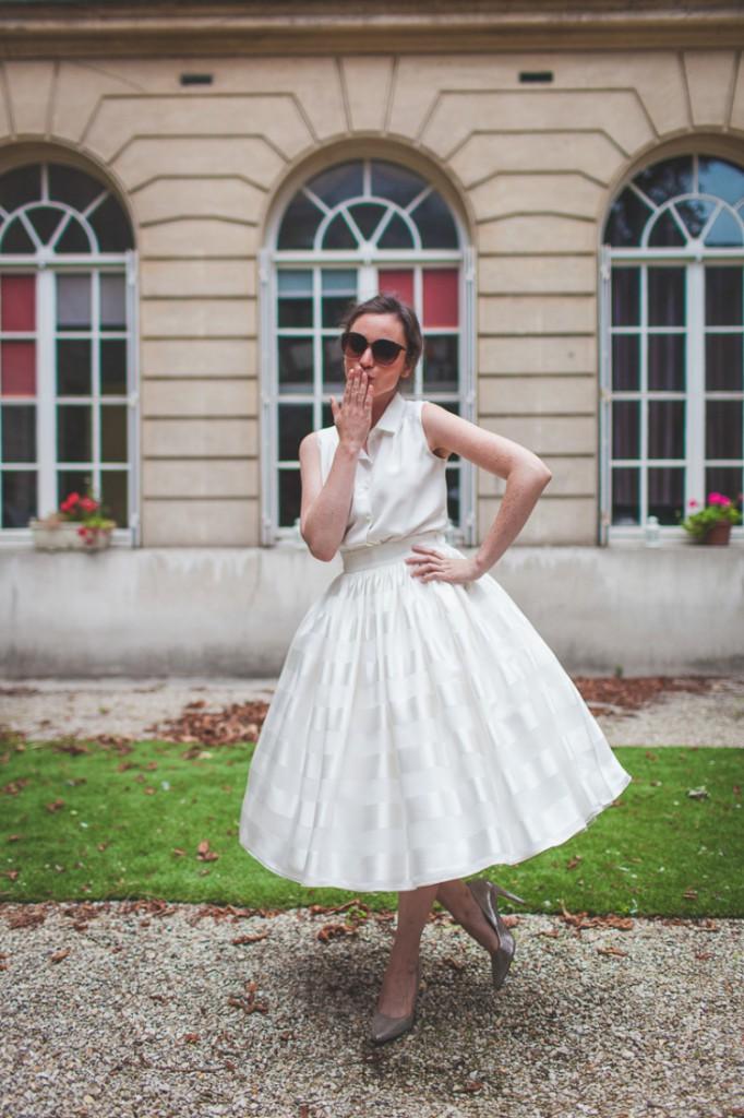 Mathilde Marie robe de mariee mad men tea lenght annees 50 collection 2016 l La Fiancee du Panda blog mariage-