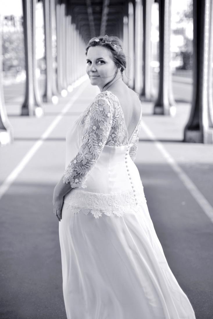 Robe de mariee plus size Stephanie Wolff Paris l Photographe Julie Coustarot l DA et stylisme La Fiancee du Panda - blog mariage 4