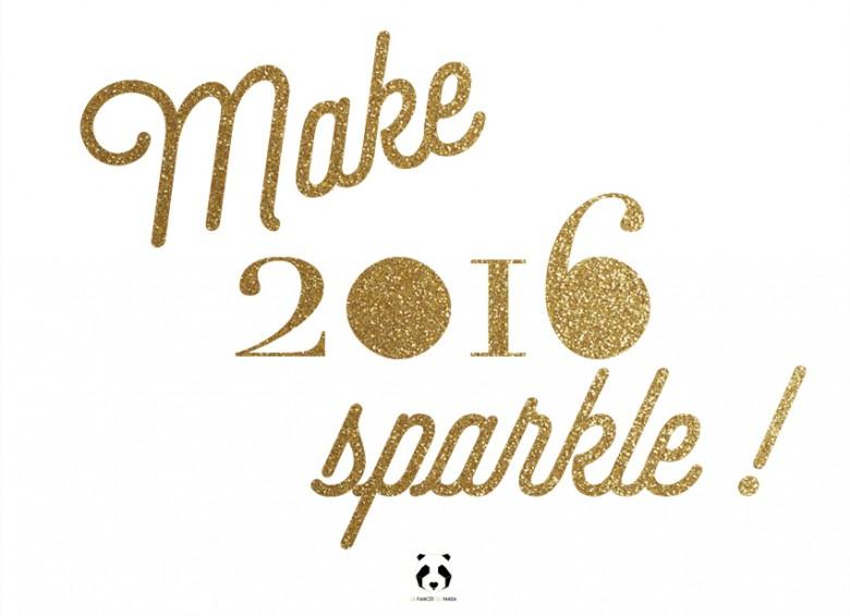 Carte de voeux 2016 - Make 2016 Sparkle l La Fiancee du Panda blog mariage